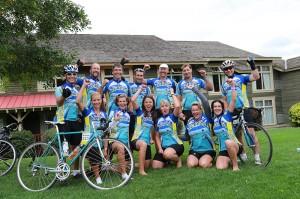 (photo: Kootenay Rockies Gran Fondo) Cyclists finish the race feeling exhilarated!